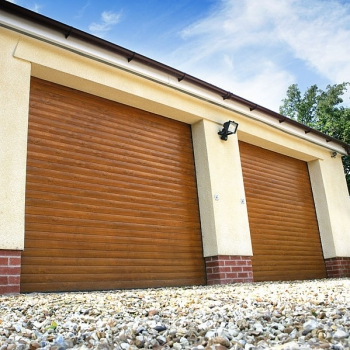 roller door golden oak