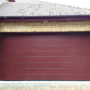 Hormann m-ribbed sectional in Rosewood