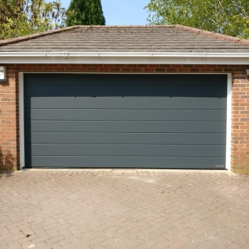 Hormann m-ribbed sand grain sectional in anthracite grey