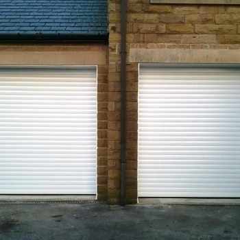 White roller doors with pvc liners
