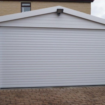 White roller door with new pvc surround