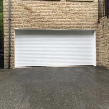 White roller door with whits pvc liners