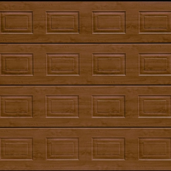 Hormann Dark Oak S Panel garage door