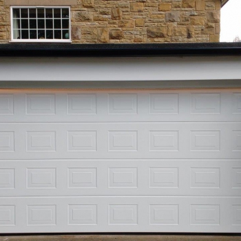Hormann LPU40 S Pannelled Georgian in White complete with Operator and LED Strip Lights controllable from Garage Door Remote