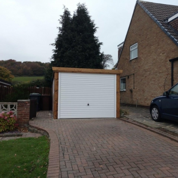 Hormann Style 2002 Horizontal Rib with Timber Frame