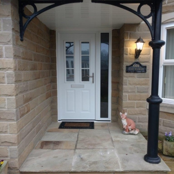 ThermoComp White Entrance Door with Side Element